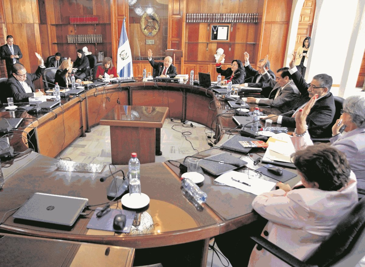Los magistrados de la CSJ están convocados para elegir al magistrado suplente de la Corte de Constitucionalidad. (Foto Prensa Libre: Hemeroteca PL)