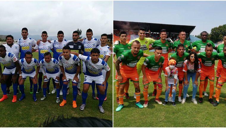 Suchitepéquez disputará la próxima temporada en la primera División, Siquinalá peleará por un lugar en la pelea por el título. (Foto Prensa Libre: Raúl Juárez y Carlos Paredes)