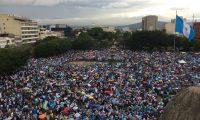 Así lució la Plaza de la Constitución durante la Marcha por la Vida y la Familia.