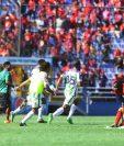 Antigua GFC celebró en la casa de los rojos, al ganar 5-4 en la tanda de penaltis. (Foto Prensa Libre: Hemeroteca PL)