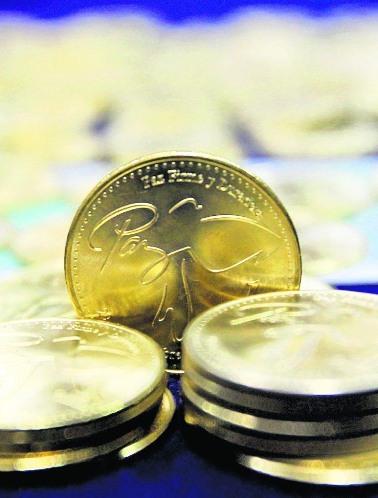 El 19 de enero de 2015 empezó a circular un nuevo lotes de monedas de Q1, pero de menor calidad que las originales. Siempre llevan el grabado de la firma de la paz. (Foto: Hemeroteca PL)