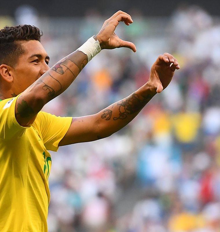 Firmino sentencio la serie en favor de Brasil en los últimos minutos del encuentro. (Foto Prensa Libre: AFP)
