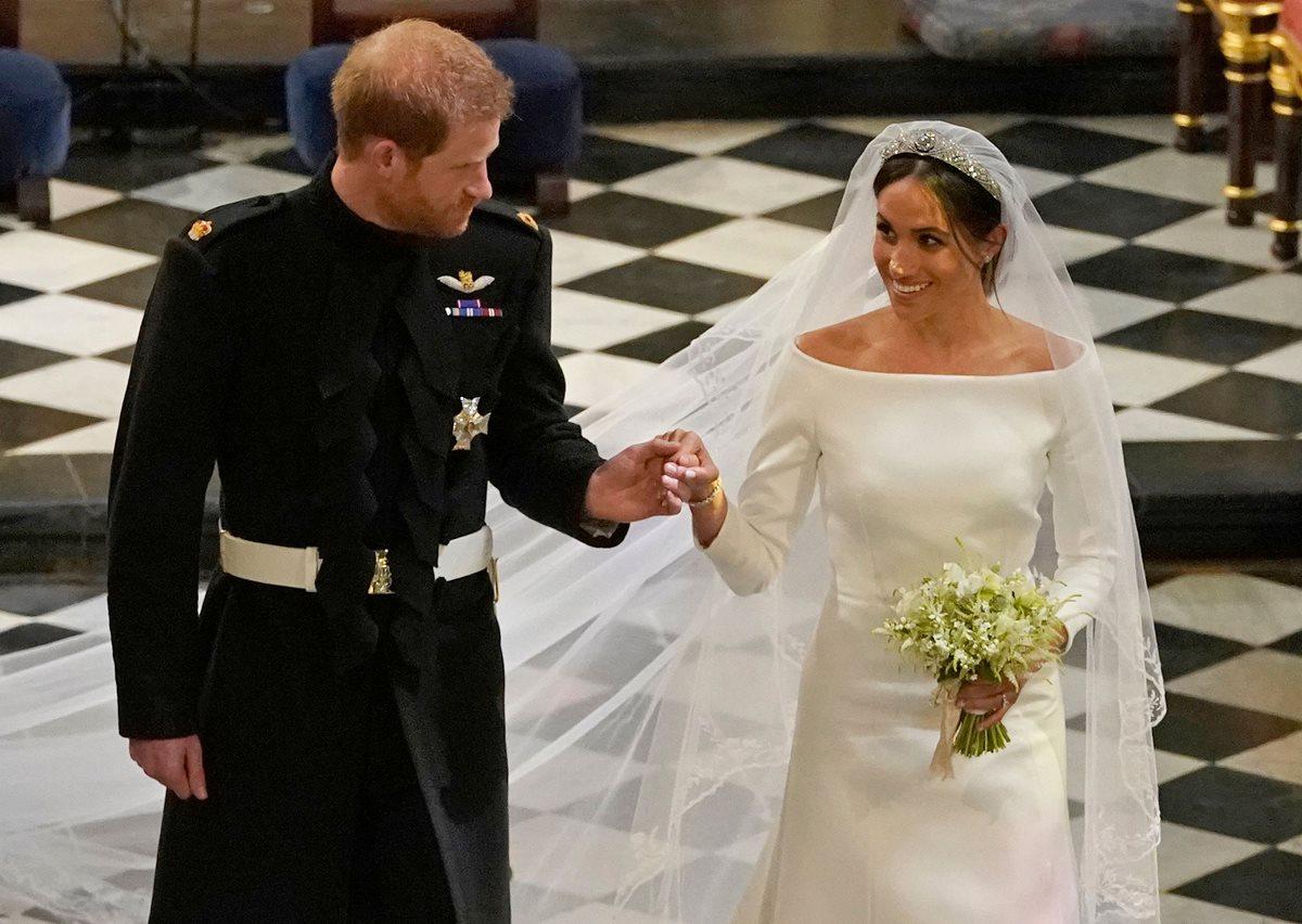 El príncipe Harry y Meghan Markle, ahora son los Duques de Sussex.