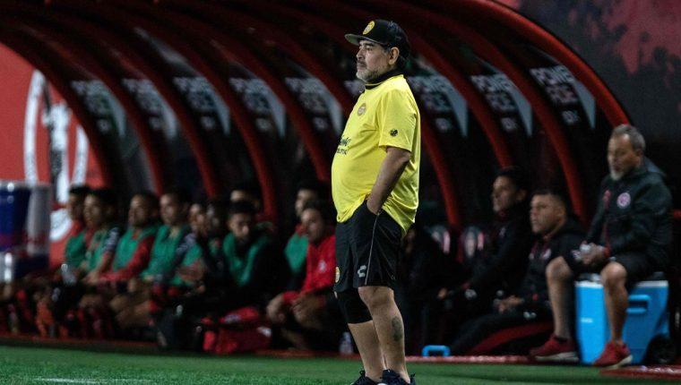 Diego Armando Maradona es el actual entrenador de Dorados de Sinaloa. (Foto Prensa Libre: AFP)