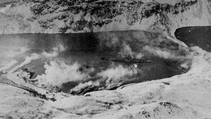 Los nazis usaron niebla química para ocultar el acorazado Tirpitz. IMPERIAL WAR MUSEUMS