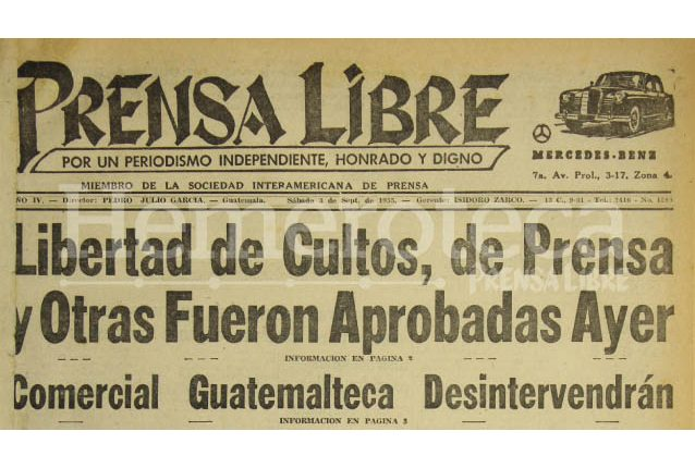 Titulares de Prensa Libre del 3/09/2015. (Foto: Hemeroteca PL)