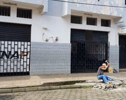 La rampa en la sede del Renap de Coatepeque fue inaugurada el martes último y causó polémica por un acto protocolario. (Foto Prensa Libre: Cortesía Vivian Sandoval)