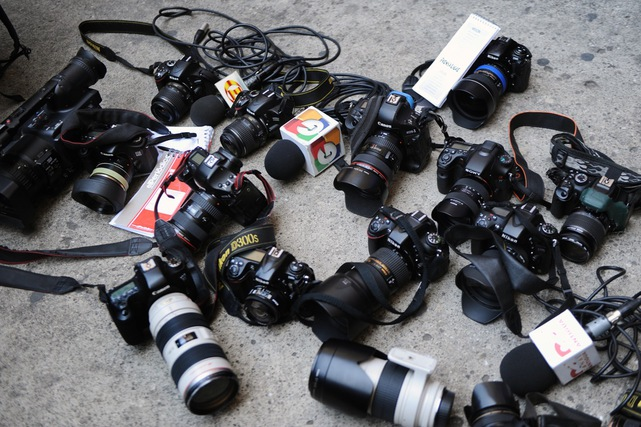 Varios conglomerados periodísticos han rechazado la Ley Electoral, por considerar que amenaza la libertad de expresión. Imagen: protesta de periodistas. (Foto: Hemeroteca PL)
