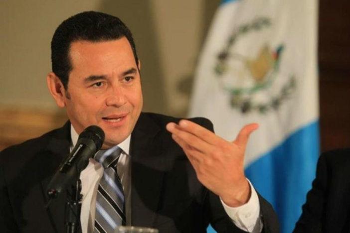 El presidente Jimmy Morales dará un discurso en la Asamblea General de la ONU. (Foto Prensa Libre: Hemeroteca PL)