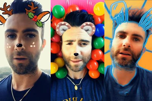 Adam Levine, de Maroon 5, disfruta de Snapchat (Foto Prensa Libre: Maroon 5).