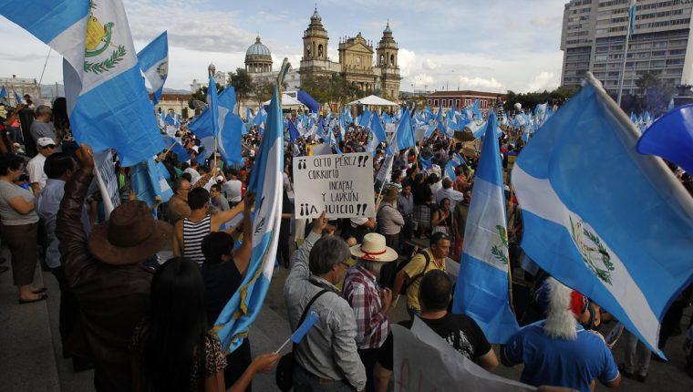 En el país han sido 19 semanas de proetestas contra el Gobierno. (Foto Prensa Libre: Hemeroteca PL)