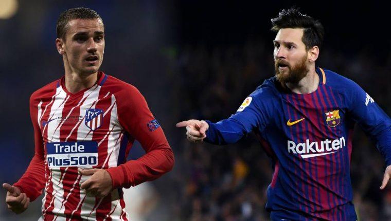 Antoine Griezmann y Leionel Messi chocarán frente a a frente en la Liga española. (Foto Redes).