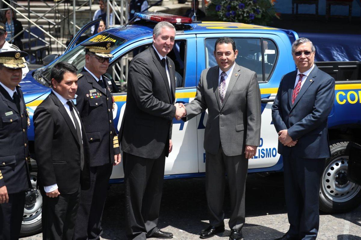70 Patrullas fueron entregadas a la PNC de las 1 mil 300 que fueron compradas el año pasado. (Foto Prensa Libre: Esbin García)