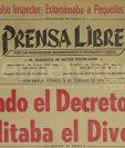 Titular de Prensa Libre del 28 de febrero de 1975. (Foto: Hemeroteca PL)