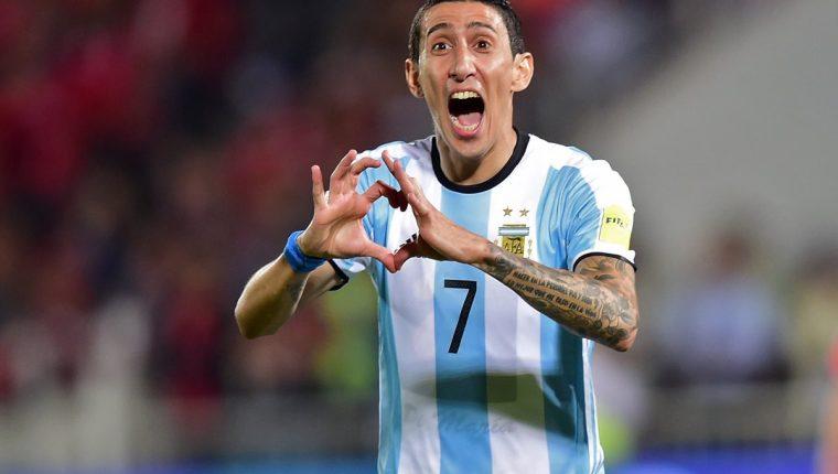 Ángel Di María no estará frente a Guatemala, pero espera volver pronto a la Selección de Argentina. (Foto Prensa Libre: AFP)