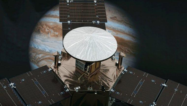 """""""Juno"""", está por arribar a la órbita de Júpiter. (Foto Prensa Libre: AP)."""