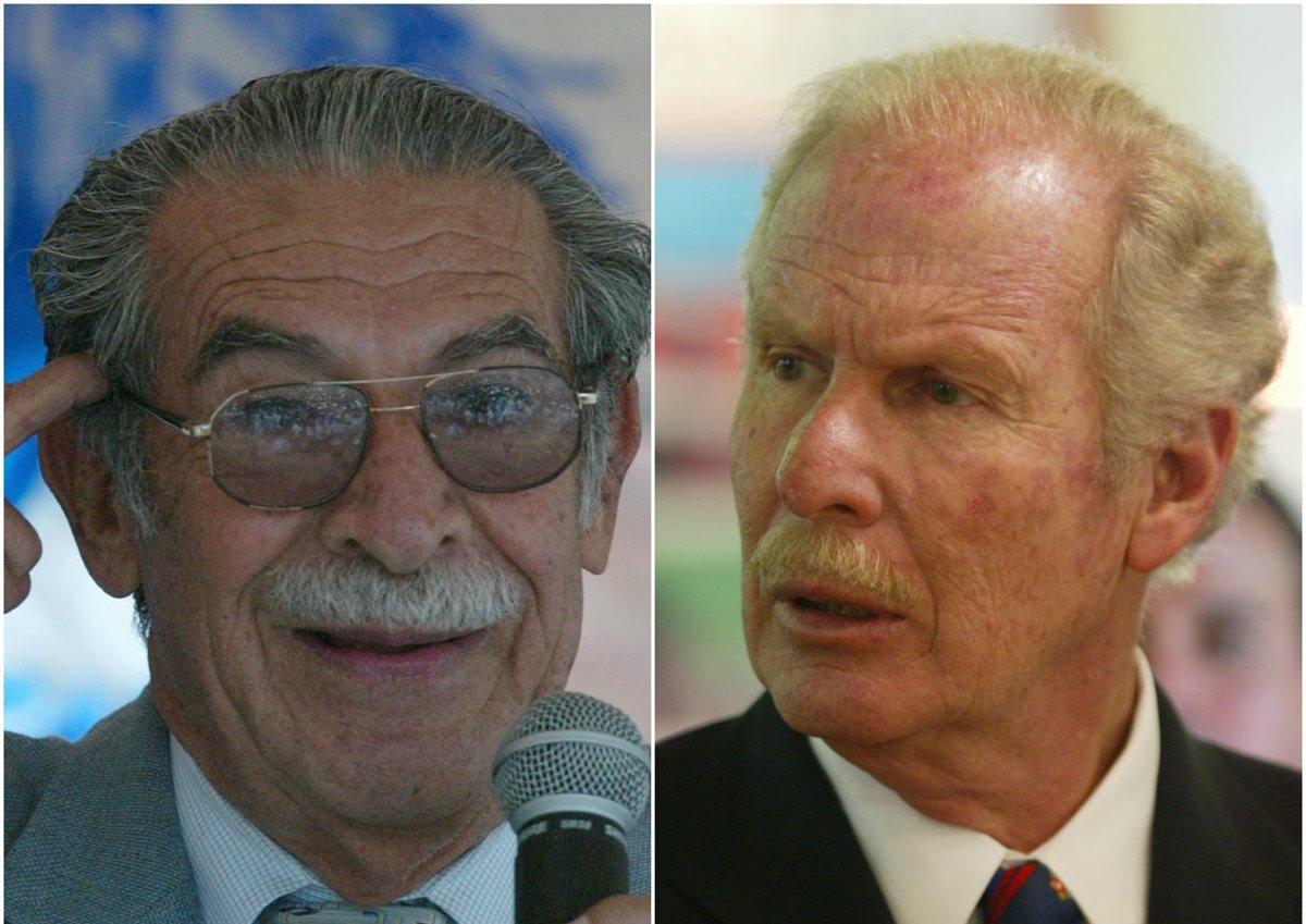 El vacío de poder causado por la muerte de Álvaro Arzú y Efraín Ríos Montt muestra la ausencia de liderazgos entre grupos de derecha. (Foto Prensa Libre: Hemeroteca PL)