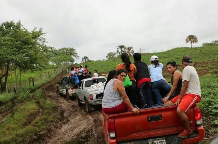 Los campesinos habitaron una área de Petén por más de 5 años, pese a ello el acceso al lugar donde vivían es muy complicado. (Foto Prensa Libre: Hemeroteca PL)