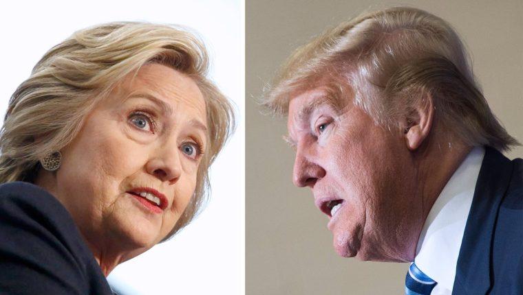 Clinton y Trump son los favoritos en Nueva York, según sondeos. (Foto Prensa Libre: AFP)