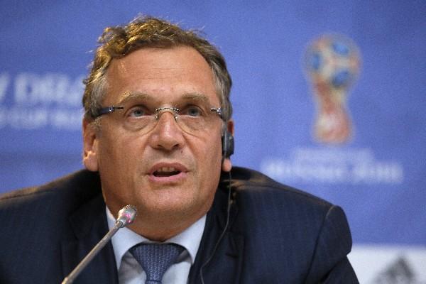 Jeröme Valcke es suspendido por 12 años por la Fifa, por la venta de entradas en el Mundial de Brasil 2014. (Foto Prensa Libre: AP)