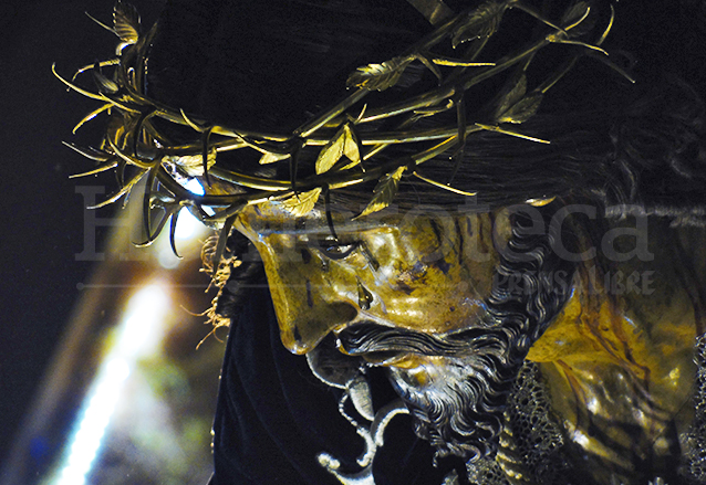 Jesús Nazareno de las Tres Potencias en su procesión del Lunes Santo 2015. (Foto: Néstor Galicia)
