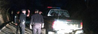 La unidad de la PNC fue atacada en La Ceiba, San Pedro Pinula, Jalapa. (Foto Prensa Libre: Cortesía PNC)