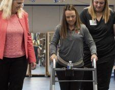 Kelly Thomas sufrió un accidente que la dejó parapléjica.