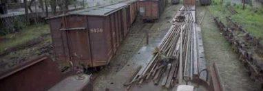 Terrenos donde permanecen los vagones de Ferrovías. (Foto Prensa Libre: Hemeroteca PL)