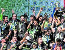 Antigua GFC, campeón del Apertura 2017, no participará por segunda vez consecutiva en la Liga de Campeones de la Concacaf, el máximo torneo de clubes de la región, debido a la suspensión de toda actividad internacional que le colocó la Fifa al futbol nacional (Foto Prensa Libre: Hemeroteca PL)