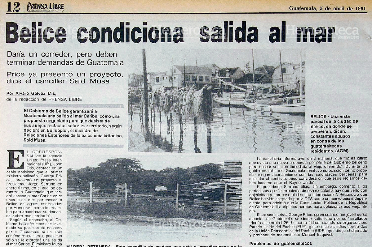 1991: Belice condiciona acuerdo