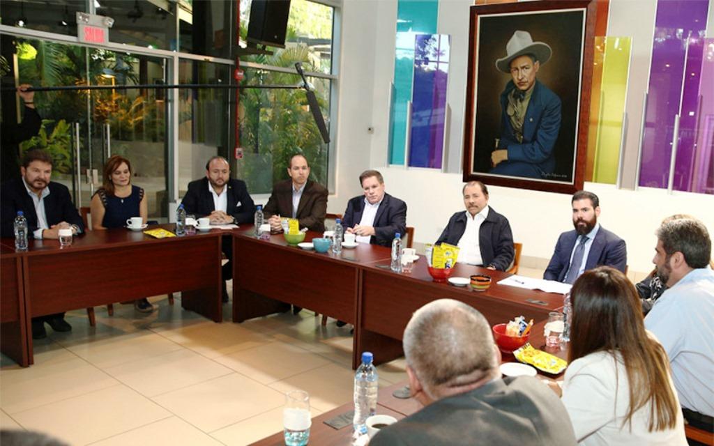 El mandatario Daniel Ortega, sostuvo un encuentro con empresarios centroamericanos de la Fedepricap. (Foto Prensa Libre: @EPP_Nicaragua)