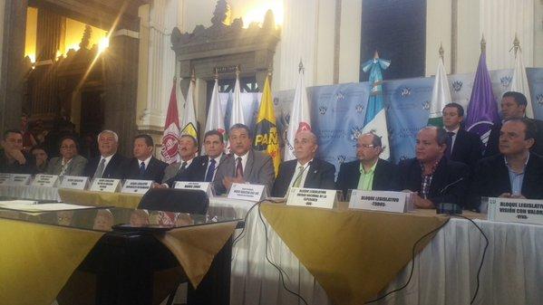 Jefes de bloque de varias bancadas buscarán reformar la Ley Orgánica del Congreso. (Foto Prensa Libre: Jessica Gramajo)