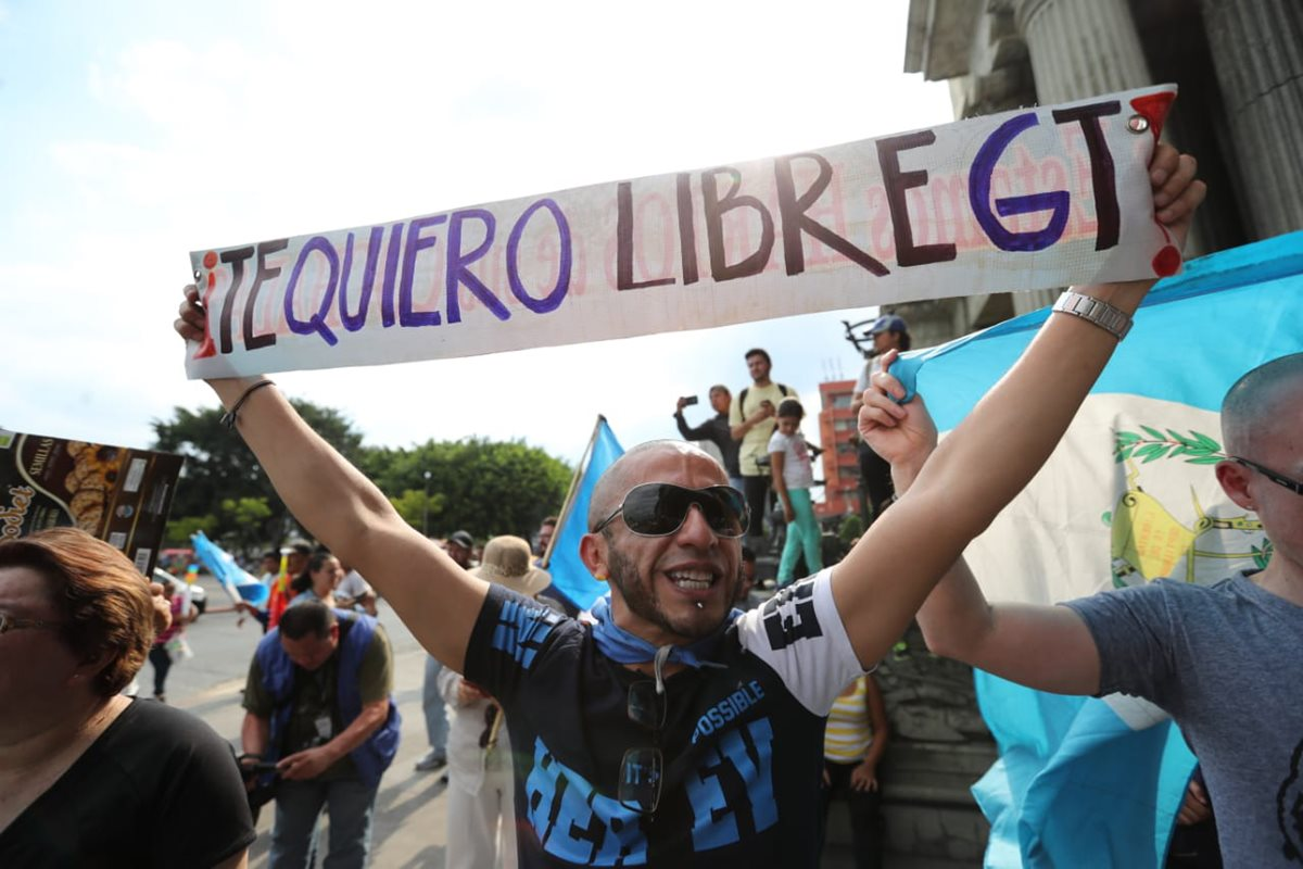 Los manifestantes se reunieron en la Plaza Central