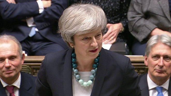 May no logró suficiente apoyo al acuerdo negociado con Bruselas. HOUSE OF COMMONS