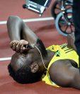 Usain Bolt ansiaba terminar su carrera con un nuevo triunfo pero la lesión se atravesó en su camino. (Foto Prensa Libre: AFP)
