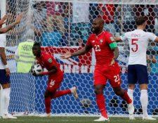 Baloy aprovechó una jugada a balón detenido para marcar el primer gol de Panamá en Mundiales. (Foto Prensa Libre: BBC)