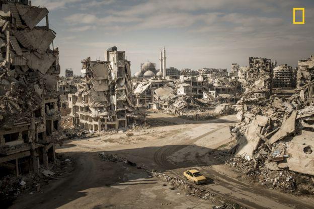 Christian Werner tomó esta desoladora foto en Homs, Siria. CHRISTIAN WERNER/2018 NAT. GEO. PHOTO CONTEST