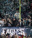 Así festejaron los Eagles, después de ganar el Super Bowl. (Foto Prensa Libre: AFP)