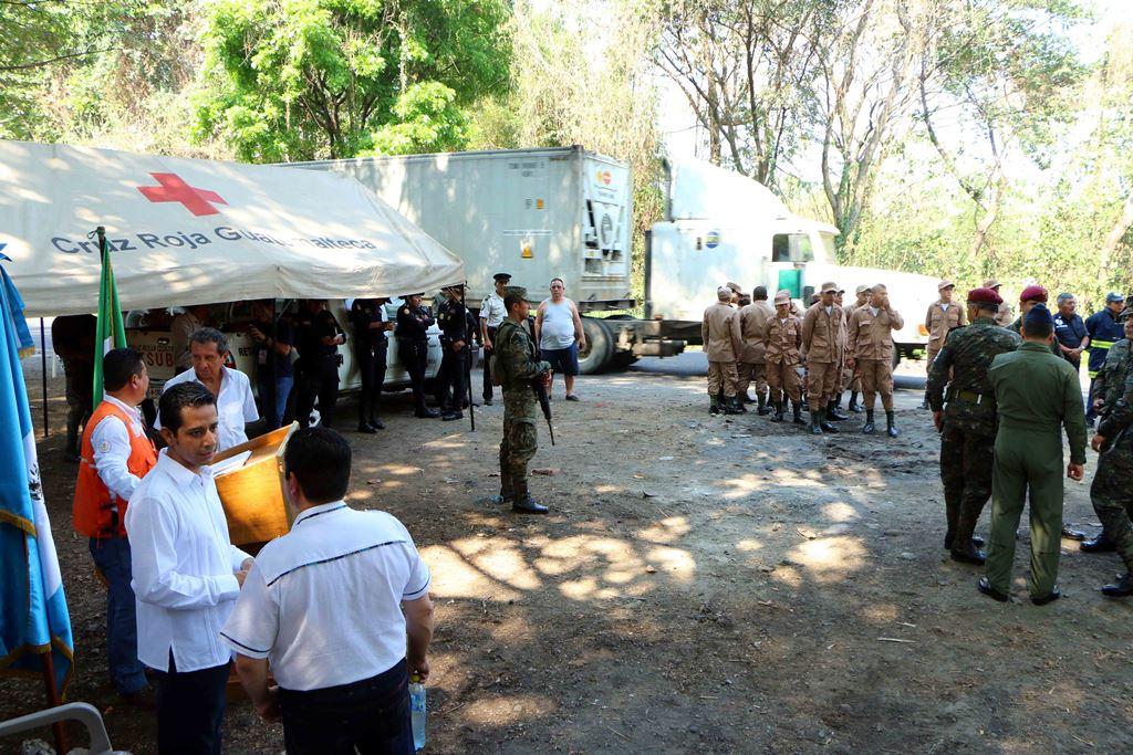 Autoridades habilitan campamento de Sinaprese