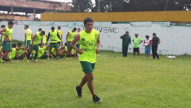 Fredy García se ejercitó hoy con Chimaltenango en el inicio de su pretemporada (Foto Prensa Libre: Victor Chamalé)