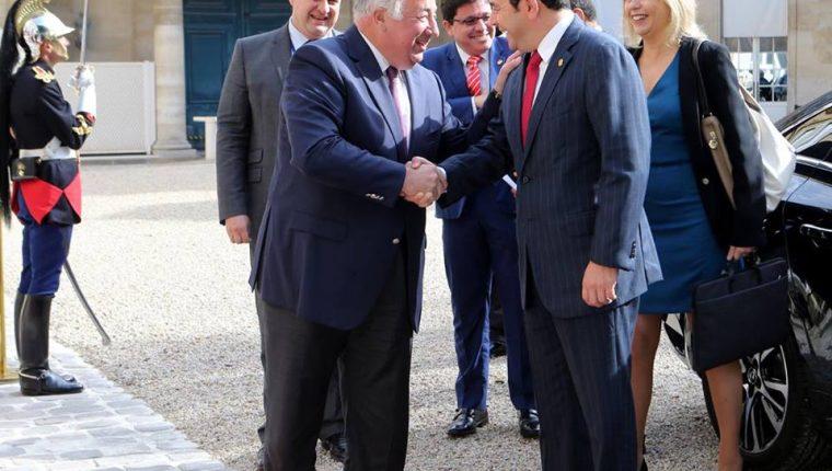 El mandatario Jimmy Morales comenzó gira francesa con una visita al senado. (Foto: Presidencia de Guatemala)