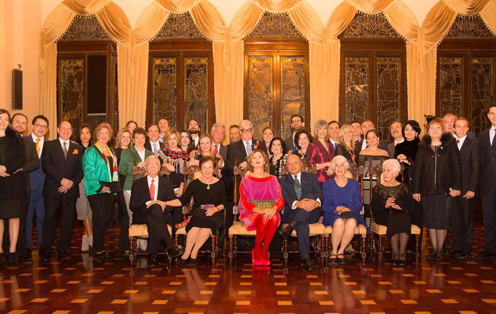 Ministro ofrece recepción familiar en el Palacio Nacional