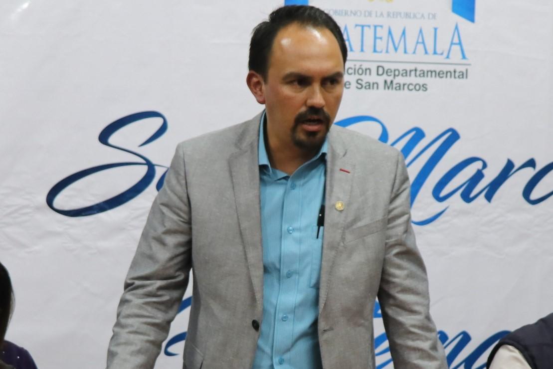 Alfonso Villagrán asumió como gobernador de San Marcos el 17 de mayo último. (Foto Prensa Libre: Whitmer Barrera)