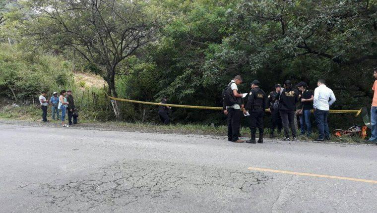 Hallan restos, posiblemente de un joven desaparecido, en Esquipulas, Chiquimula. (Foto Prensa Libre: Mario Morales)