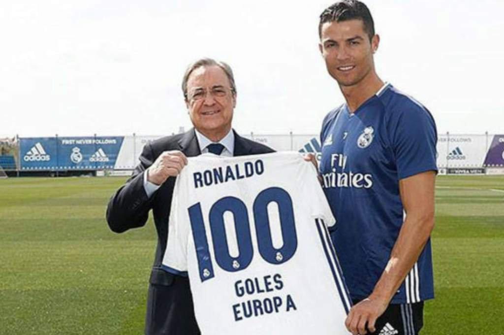 Cristiano Ronaldo vivió al máximo sus anotaciones contra el Bayern. Ayer recibió un regalo de Florentino Pérez (Foto Prensa Libre: AFP)