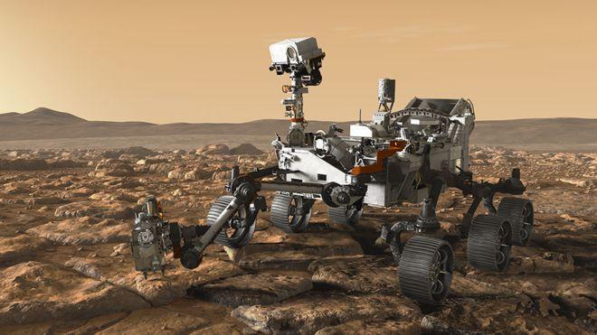 El nuevo vehículo que recorrerá Marte sigue un diseño inspirado en el robot Curiosity que llegó a Marte en 2012. NASA