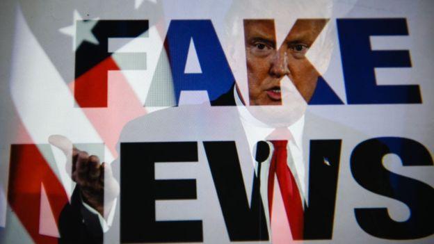 Donald Trump popularizó el concepto de Fake News. (Foto Prensa Libre: GETTY IMAGES)