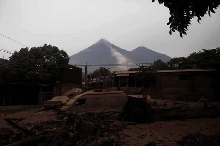 San Miguel Los Lotes fue una de las comunidades más afectadas por la violenta erupción del Volcán de Fuego. (Foto Prensa Libre: Hemeroteca PL)