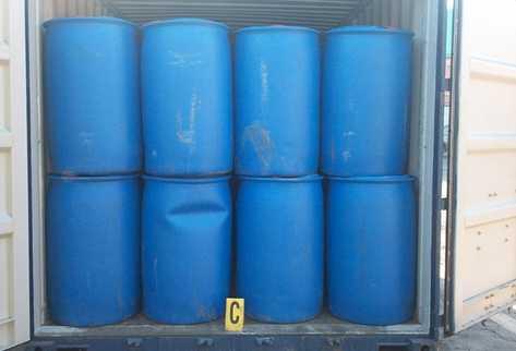 Los 240 toneles estaban ubicados en tres contenedores en Puerto Quetzal, Escuintla. (Foto Prensa Libre: Enrique Paredes)
