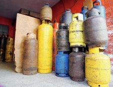 Los precios del gas subieron a partir del 3 de octubre, según información de las tres compañías envasadoras. (Foto, Prensa Libre: Hemeroteca PL).
